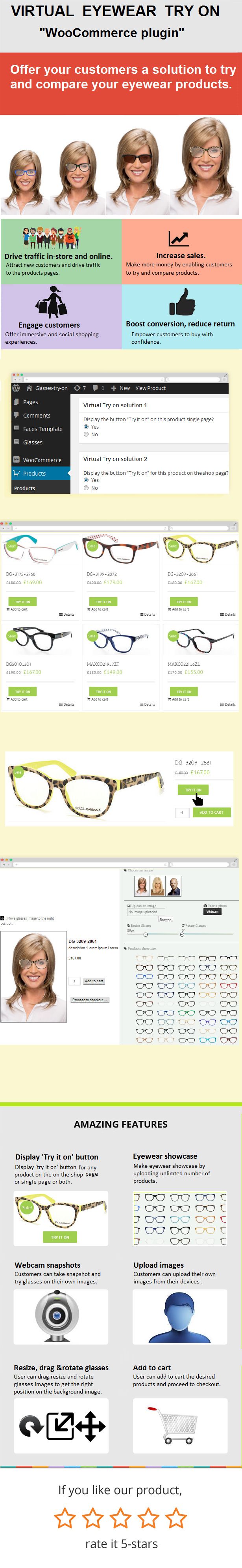"""Eyewear Virtual Try-on """"Plug-in WooCommerce"""" - 1"""